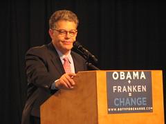 Vote for Al Franken.  You will be glad you did. (tbone_sandwich) Tags: usa minnesota alfranken change plus twincities franken obama equals dfl minneapolisconventioncenter 20081030 alfrankenrally