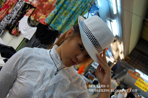cool white hat
