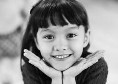 7 year old cuteness (DSLR_MANIA) Tags: bw cute smile kids children asian eos asia child korea seoul kindergarten southkorea halfblood kindy canonef50mmf14usm eos1dmark3 canon1dmark3 dslrmania canon1deos1d