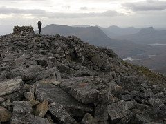 summit of canisp (Gwen!!) Tags: mountains scotland culmor canisp stacpolliadh citrit goldstaraward gordiebroon