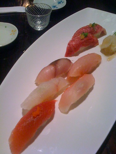 Course 6: Nigiri, Including Kobe Beef w/Diced Garlic
