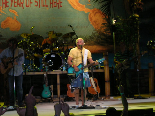 Jimmy Buffett w/ blue guitar