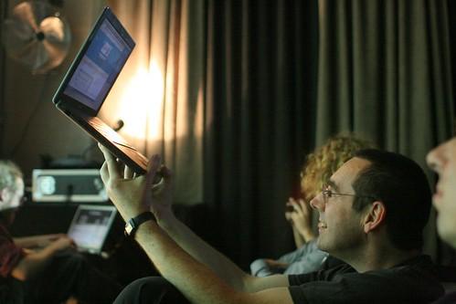 Impromptu laptop stand