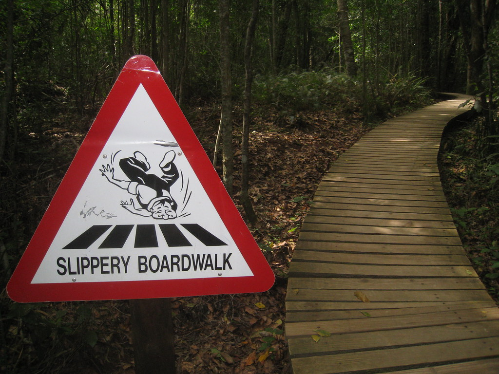 Slippery Boardwalk - Storms River