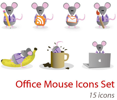 office_mouse_icons_set