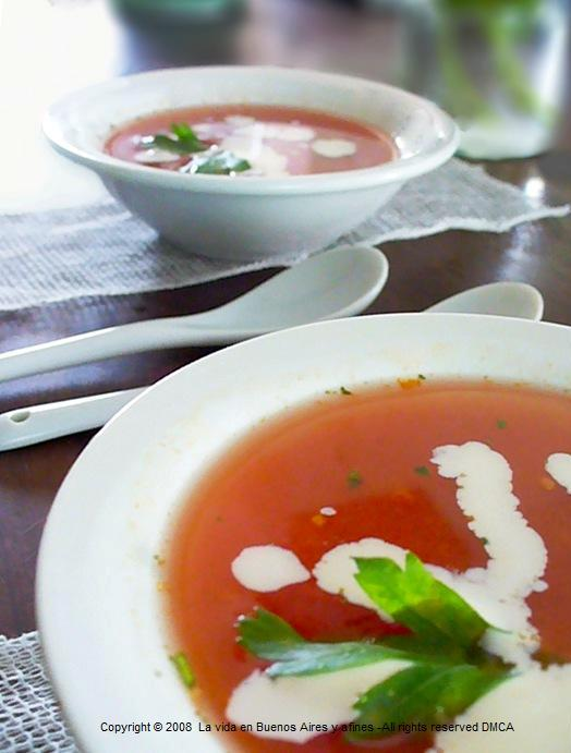 Roasted tomatoes soups