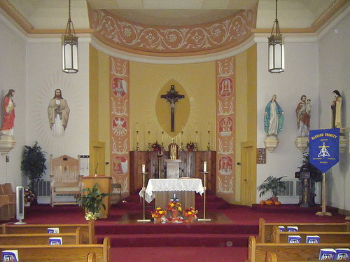 Saint Joseph Roman Catholic Church, in Meppen, Illinois, USA - interior