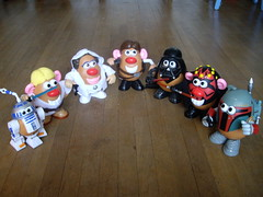 The Star Wars Potato Heads (bratislabat) Tags: toy starwars potato boba spoof darthmaul potatohead fett darkvador darthvador vilains vadordarth skywalkerprincess headstar fettpotatopotato warsspooftoyr2d2luke leiavilainsdarth vadordark maulboba