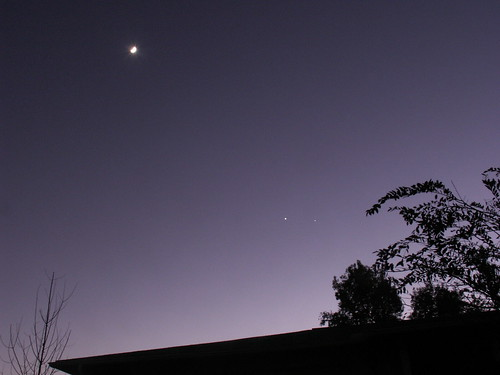 Moon, Venus, and Jupiter, 3 Dec. 2008