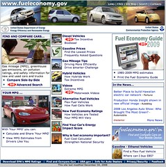 fuel economy dot gov home page