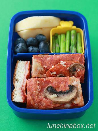 Pasta and pizza bento lunches