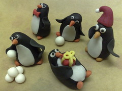 Playful Penguins (SmallThingsIced) Tags: christmas penguins playful snowballs