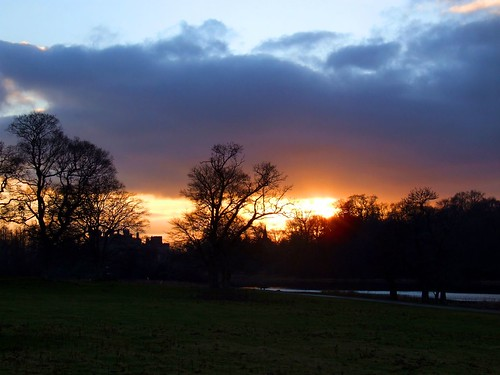 Sunset Duns Castle