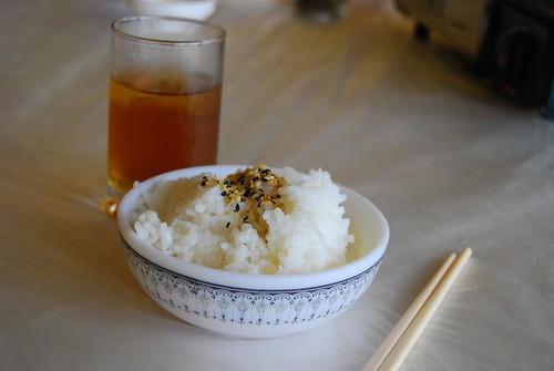 白飯+梅子茶