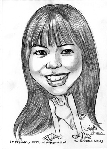 Caricature of Sherlyn Chia