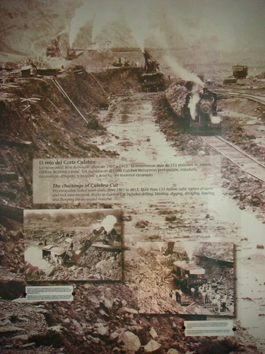 Constructing the Canal. From the Panama Canal Museum...
