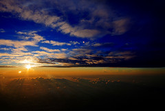 30.000 ft sunset at Vietnam's Sky ( DocBudie) Tags: blue sunset sky window beautiful clouds plane flying cabin flight bluesky aeroplane vietnam windowview saigon onboard hochiminh airasia 30000feet seat31a goldstaraward vietnamsky kualalumpurtosaigon kualalumpurtohochiminh