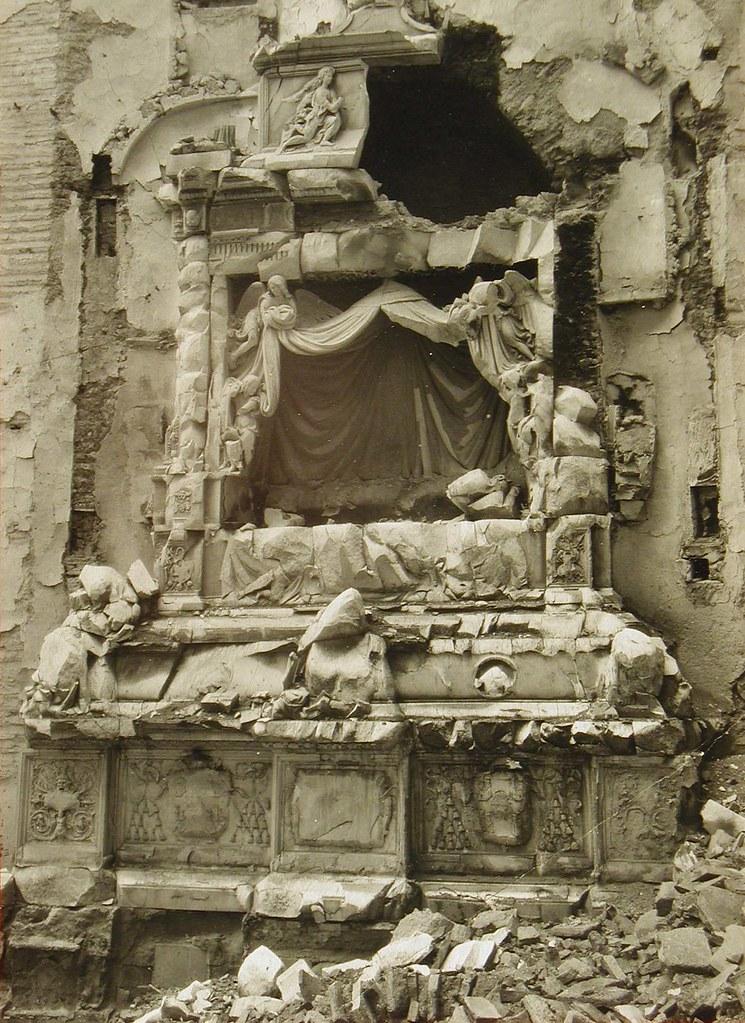 Convento de San Juan de la Penitencia (Toledo) destruido en la Guerra Civil. Archivo Rodríguez
