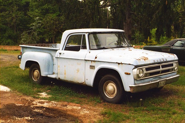 blue truck 1971 pickup dodge d100