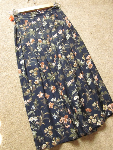 goodwill find: floral skirt