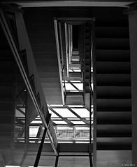 Scale di ospedale (Sandro Amici) Tags: scale fuji bn prospettiva