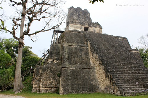 Mayan Temples in Gran Plaza, Tikal National Park
