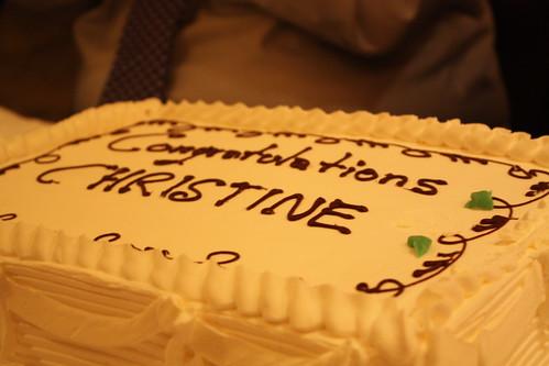 Congrats Christine!