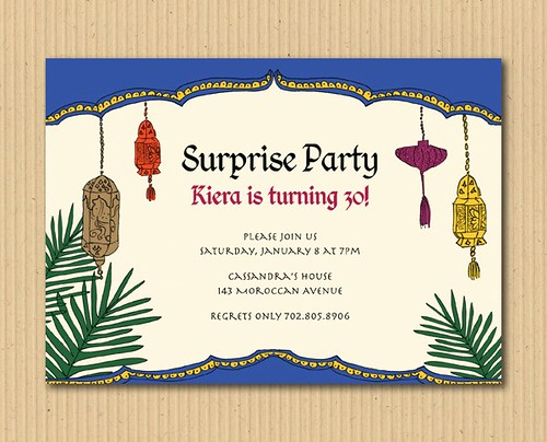 Moroccan Invitation Party Design - DIY Printables