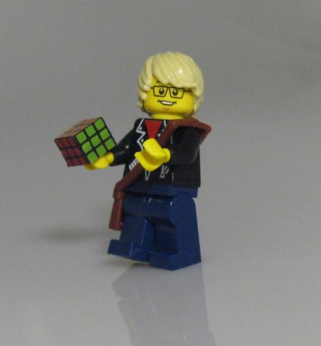 Custom minifig Rubik's Cube Decal