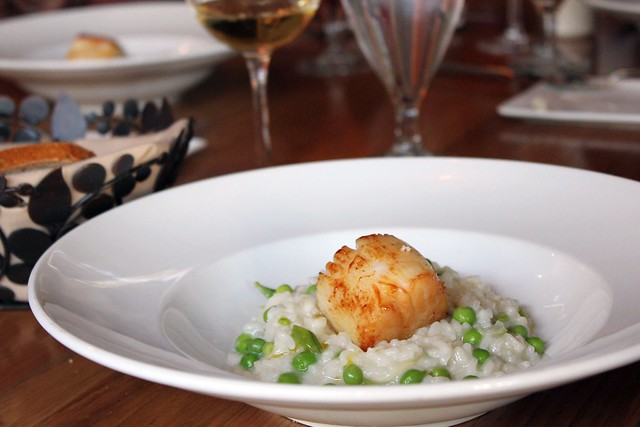 Pan Roasted Baja Scallop & Spring Vegetable Risotto IMG_0743