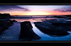 THE CHANNEL (matt burman) Tags: ocean sea sun lighthouse colour water night sunrise timelapse rocks waves ship nighttime algae soldiersbeach