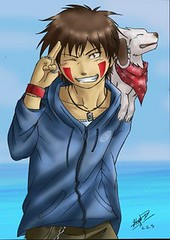 hot kiba (Like Magic) Tags: dog hot anime beach puppy naruto kiba akamaru inuzuka