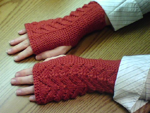 Fishtail Fingerless Mitts
