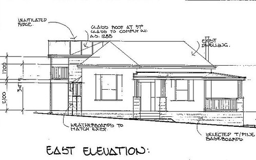 Cottage - East Elevation