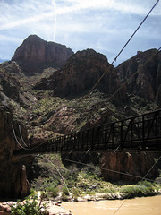 Crossing the Colorado River (angelatravels11) Tags: bridge black river colorado south grand canyon trail kaibab 20080402 backpackingthegrandcanyon