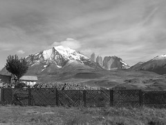Torres del Paine - trek - B&W