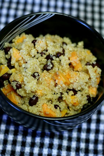 Quinoa Salad with Black Beans & Sweet Potato