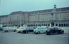 Dresden rebuilt - May 1960 (Normann) Tags: car germany dresden ddr eastgermany kulturpalast altmarkt
