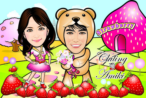 Q-Digital Caricatures - Strawberry