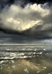 The sky has no limits (Danil) Tags: light cloud storm holland beach netherlands rain waddenzee island nikon wind daniel nederland dramatic northsea foam ameland hdr