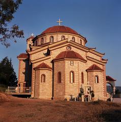 Kiveri church (Ed Chadwick) Tags: tlr film church kodak greece portra 160nc kalloflex kiveri