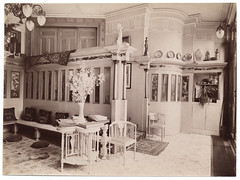 Interior of house of Lawrence Alma-Tedema (Smithsonian Institution) Tags: woodwork smithsonianinstitution crownmolding panelling lawrencealmatadema archivesofamericanart almatadena lawrencealmatadena hallofpanels