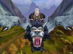 ::Windrider:: (~Wynter~) Tags: game monster wow screenshot blood lion warcraft elf online beast hunter chimera windrider