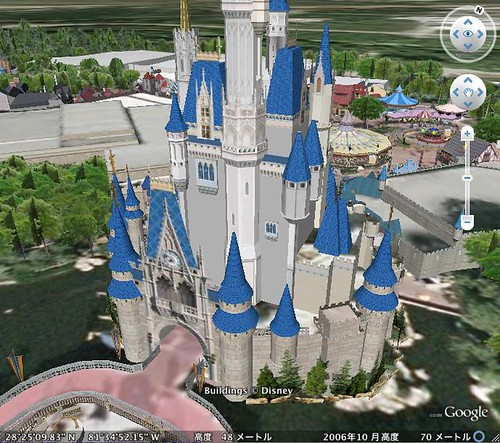 Disney World on Google Earth