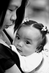 parayg (Farl) Tags: bw baby love beauty infant philippines bib daughter mother cebu wife 4months adlaw cebusugbo cacing