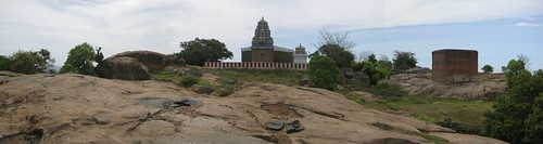 Back side of the temple
