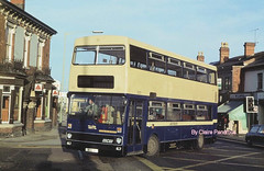 2001 at Selly Oak in 1979. (Lady Wulfrun) Tags: 2001 birmingham december 1979 westmidlands metrobus mcw sellyoak bristolroad pte bok1v metrocammell austin1100 wmpte probuction
