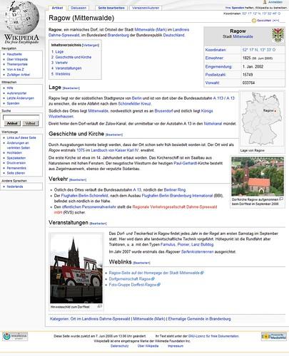 Wikipedia: Ragow (Mittenwalde)