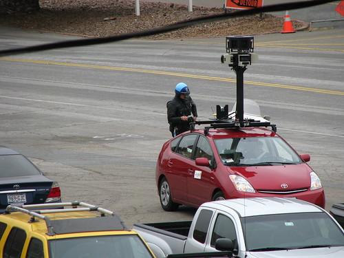 Voiture Google Maps arrêtée