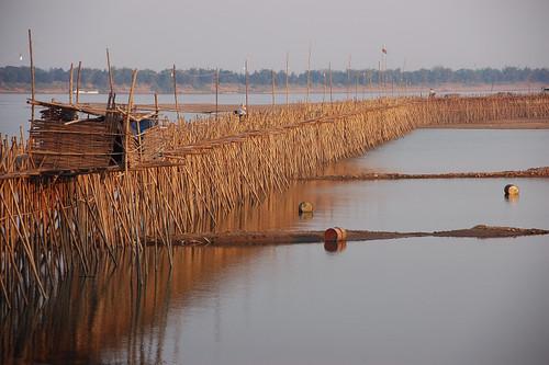 Kompong Cham - Bamboo Bridge